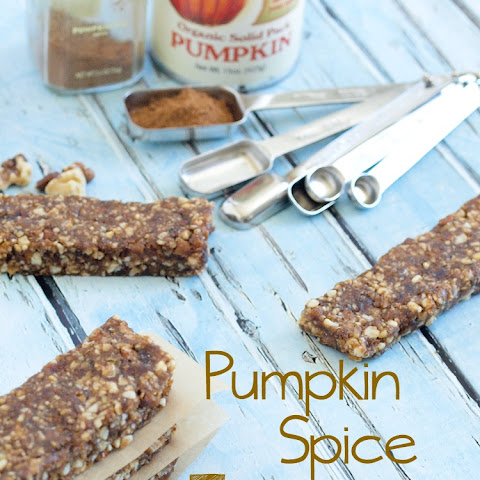 No Bake Pumpkin Spice Energy Bars