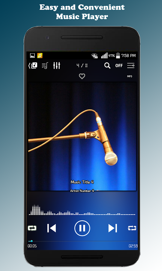 ZZang Music Player Screenshot 1