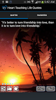 Screenshot of Heart Touching Quotes