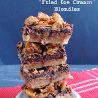 "Mexican ""Fried Ice Cream"" Blondies"