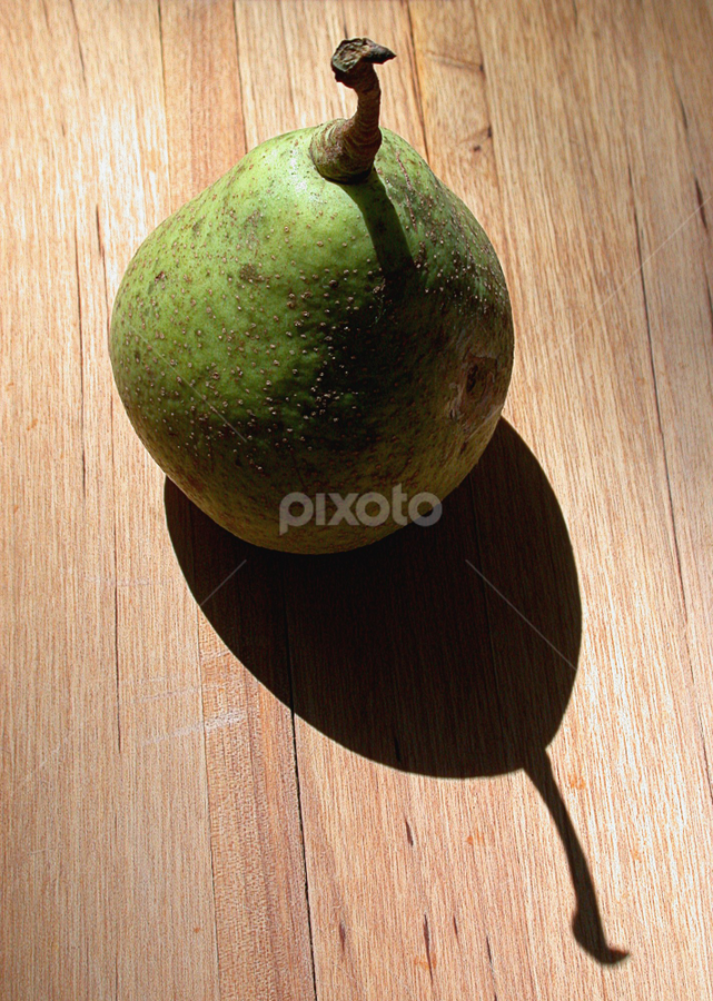 Pear Shadow by Gwen Paton - Food & Drink Fruits & Vegetables ( shadow, green pear, pear,  )