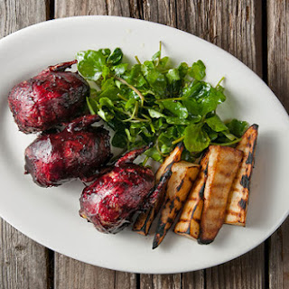 Blueberry or Huckleberry BBQ Sauce with Roasted Doves