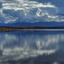 Cloudy and calm by Patricia Phillips - Landscapes Travel ( alaska lakes clouds reflections )