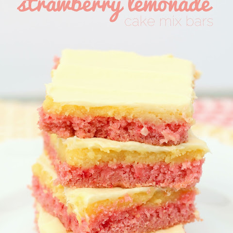 Strawberry Lemonade Cake Mix Bars