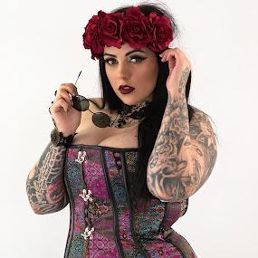 Stella by Dunstan Vavasour - People Body Art/Tattoos ( model, tattooed, tattoos, corset, inked, beautyspot, modelling, corsetry, tattoo, bodyart,  )