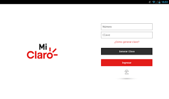 Screenshot of Mi Claro Ecuador