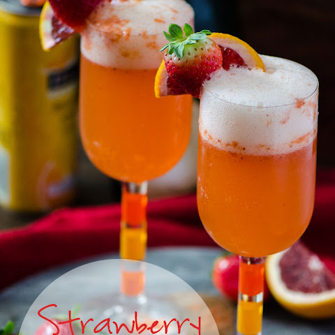 Strawberry Blood Orange Mimosa