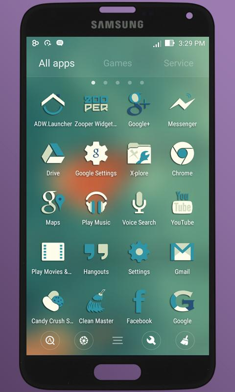 BlueMia - icon pack Screenshot 2