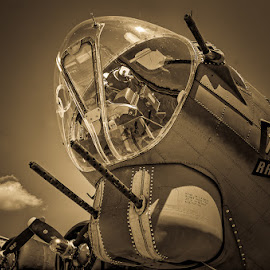 by Ray Ebersole - Transportation Airplanes ( tulsa, texas raiders, b-17, commemorative air force )