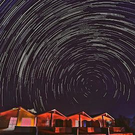 Universe beyond our home by Vivek Raut - Buildings & Architecture Homes ( startrail, sky, night sky, universe )
