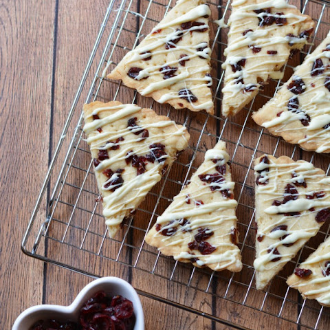 White Chocolate Cranberry Shortbread