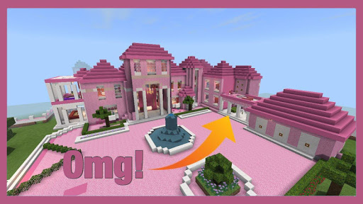 Pink Princess House maps for MCPE For PC