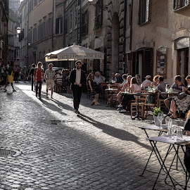 Atmosfera by Cristian Oprescu - City,  Street & Park  Street Scenes ( rome, italy, street photography )