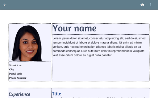 Résumé App - screenshot