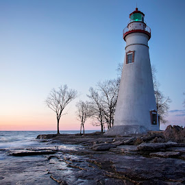 Marblehead Morning by Pat Eisenberger - Buildings & Architecture Public & Historical ( marblehead, ohio, lighthouse, marblehead lighthouse, sunrise, lake erie )