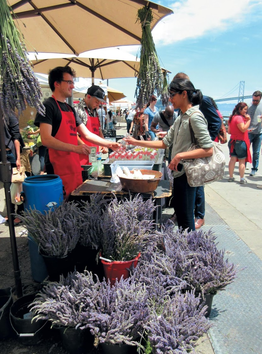 Fresh lavender at the Ferry Plaza Farmers Market