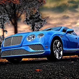 Baby Blue Bentley by JEFFREY LORBER - Transportation Automobiles ( blue bentley, donald trump, lorberphoto, rust 'n chrome, lorber, bentley, jeffrey lorber )