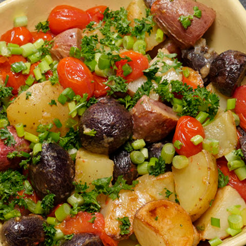 Red, White, & Blue Roasted Potato Salad