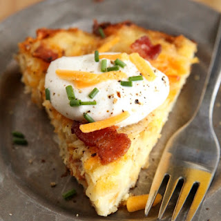 Cheesy Bacon Hash Brown Pie