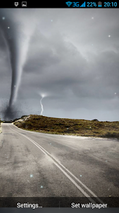Tornado 3D Live Wallpaper - screenshot