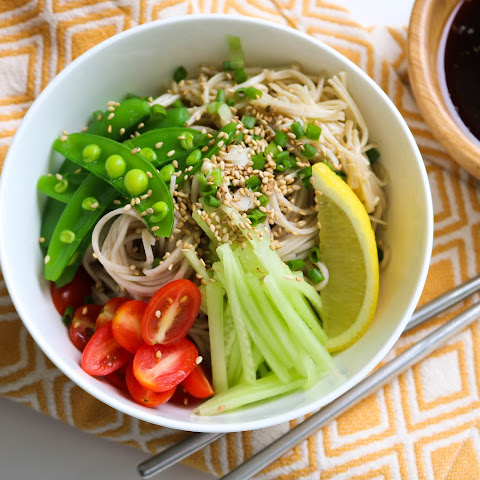 Cold Soba noodles salad