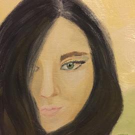 Dana by Melanie Levin - Painting All Painting ( woman, brunette, portrait, eye )
