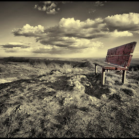 The bank by Julien Oncete - Public Holidays Other ( clouds, hills, grass, mood, bank )