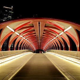Peace Bridge. Calgary, AB, Canada. by Yanfeng He - Buildings & Architecture Bridges & Suspended Structures ( relax, tranquil, relaxing, tranquility )
