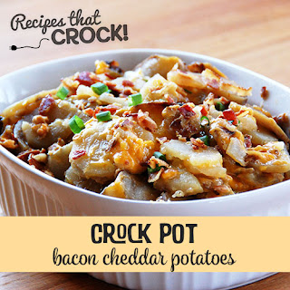 Bacon Cheddar Crock Pot Potatoes