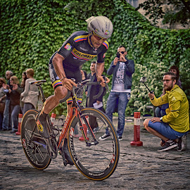 Colombia Rider by Marco Bertamé - Sports & Fitness Cycling ( uphill, second, on his own, prologue, effort, grimace, standing, alone, tour de luxembourg )