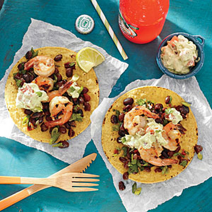 Grilled Shrimp Tostadas with Lime Recipe | Yummly