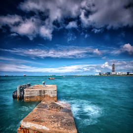 Hi Seas by Ferdinand Ludo - Landscapes Waterscapes ( stormy weather, cebu city, hilutungan channel, high tide )