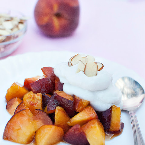 Brown Sugar Peaches with Coconut Whipped Cream