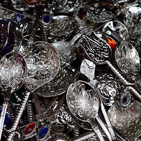 Spoons by Sonja VN - Artistic Objects Cups, Plates & Utensils ( silver, spoon,  )