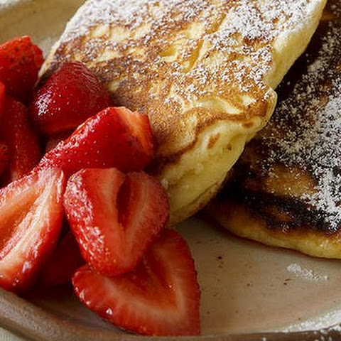 Ricotta Pancakes With Strawberries