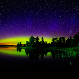 Northern Lights  by Shixing Wen - Landscapes Weather ( duluthm, minnesota, night photography, northern lights, aurora borealis, nature photography )