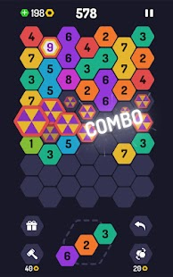 UP 9 - Hexa Puzzle! Merge Numbers to get 9