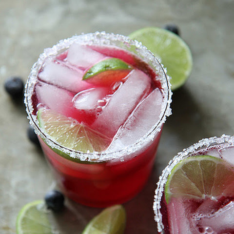 Skinny Blueberry Margaritas