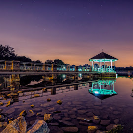 A calm evening at the park by Gordon Koh - City,  Street & Park  City Parks ( reflection, nightscape )