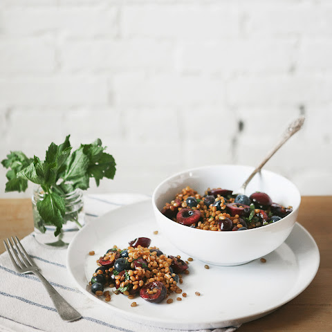 Cherry Mint + Wheatberry Salad