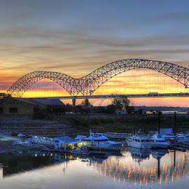The Memphis Visitors Center by Joe Machuta - Landscapes Sunsets & Sunrises
