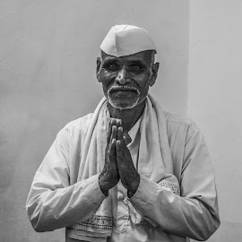 The Devotee! by Rit Tar - People Portraits of Men ( project, noir, faces, bnwmagazine, faith, black and white, photojournalism, india, festival, bnw, portrait )