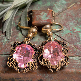 Vintage Earrings by Becky Kempf - Artistic Objects Jewelry ( vintage, jewelry, earrings )