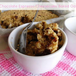 Dark Chocolate Espresso Cheesecake Baked Oatmeal