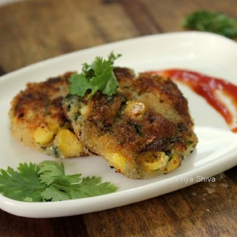 Spinach Corn Cutlet