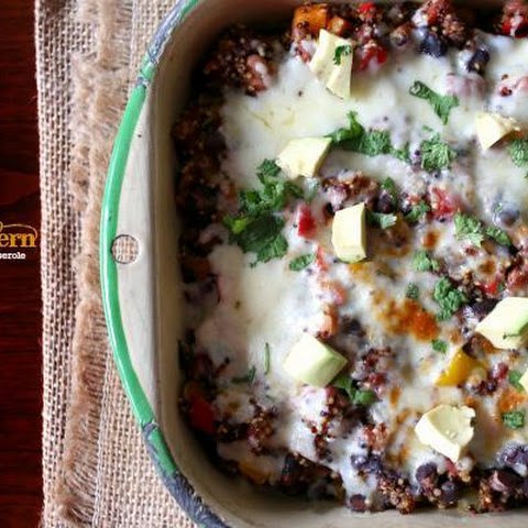Southwestern Quinoa And Mixed Bean Casserole