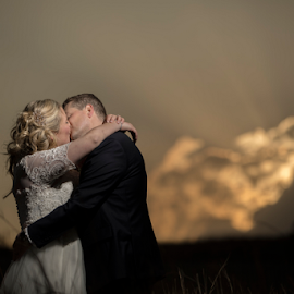 Sunset by Lood Goosen (LWG Photo) - Wedding Bride & Groom ( bride, soft light, groom, wedding photography, wedding photographer, bride and groom, sunset, weddings, wedding day, wedding photographers, wedding )