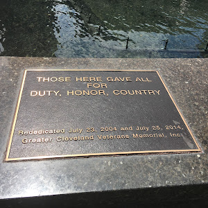 Those here gave all for duty, honor, countryRededicated July 23, 2004, and July 25, 2014.Greater Cleveland Veterans Memorial, Inc.Submitted byBryan Arnold@nanowhiskers