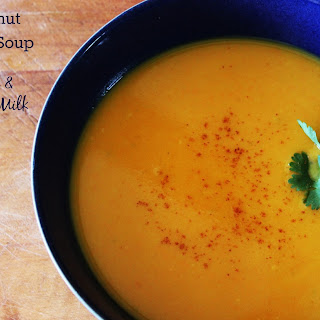 Butternut Squash Soup with Ginger and Coconut Milk
