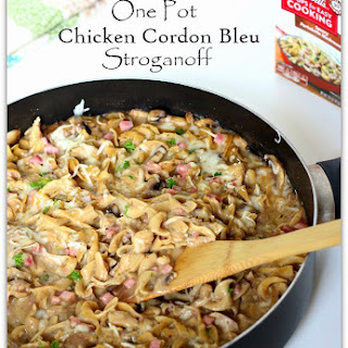 One Pot Chicken Cordon Bleu Stroganoff